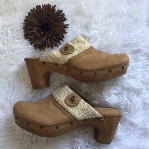 Style & Co. Gentle Women's Warm Camel Heeled Clogs